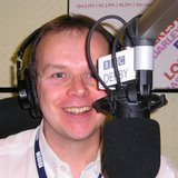 Graham Wright at his Radio Derby microphone